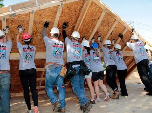 building together builds stronger relationships among team