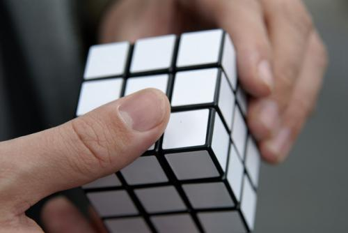 Make it easy - one color rubiks cube
