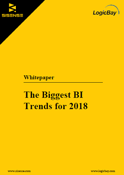 Sisense Biggest BI Trends