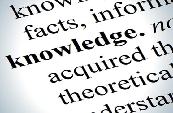dictionary showing definition of knowledge