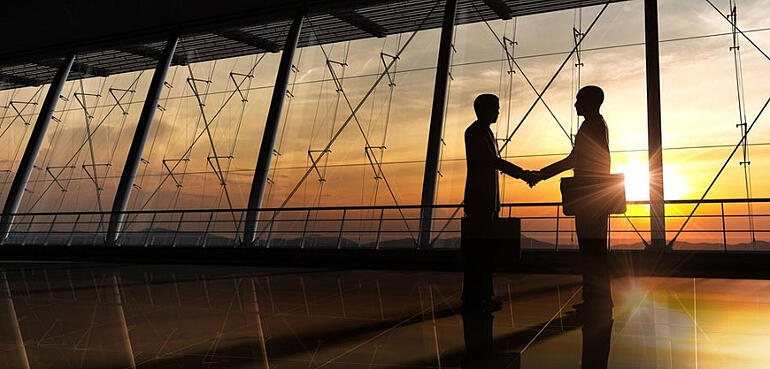 channel partners shaking hands