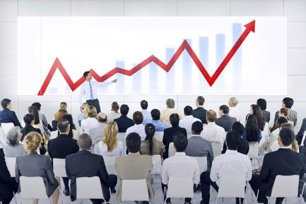 sales training showing increasing numbers