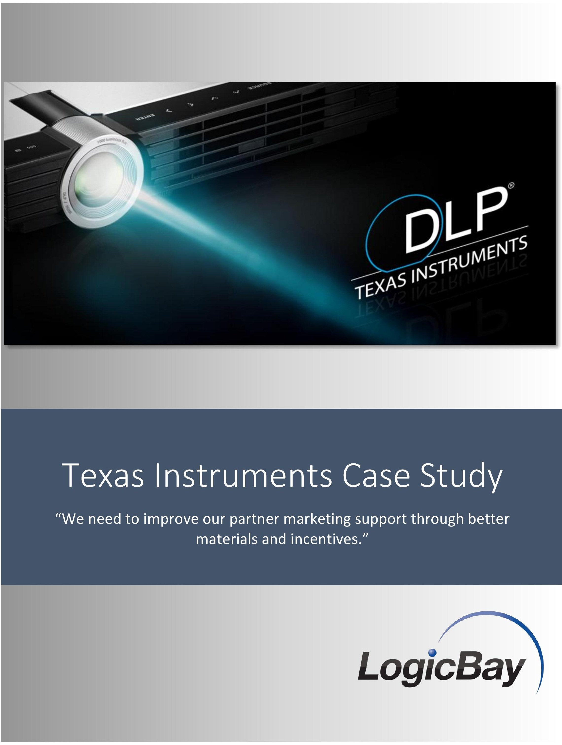 alliston instruments case study essay In a case study, texas instruments (ti) spends $111 billion to repurchase 212% of its outstanding shares  papers 3,633 this journal is curated by: bernard s.
